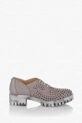 Дамски летни обувки Джилиан сива кожа