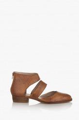 Дамски сандали кожа карамел Атланта
