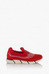 Червени дамски спортни обувки Белла