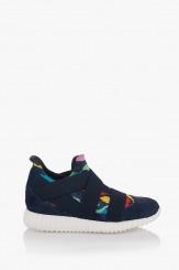 Дамски спортни обувки - кецове в синьо Габриела