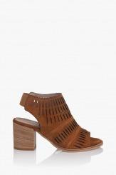 Дамски сандали карамел велур Белинда