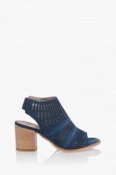 Сини велирени дамски сандали Белинда