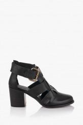 Дамски сандали от естествена кожа в черно Бриджит