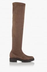 Дамски чизми стреч в таупе Никол