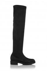 Дамски чизми стреч черен Никол