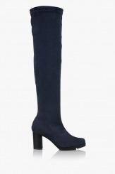 Дамски чизми стреч в синьо Никол