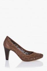 Дамски летни обувки Сара кафяви