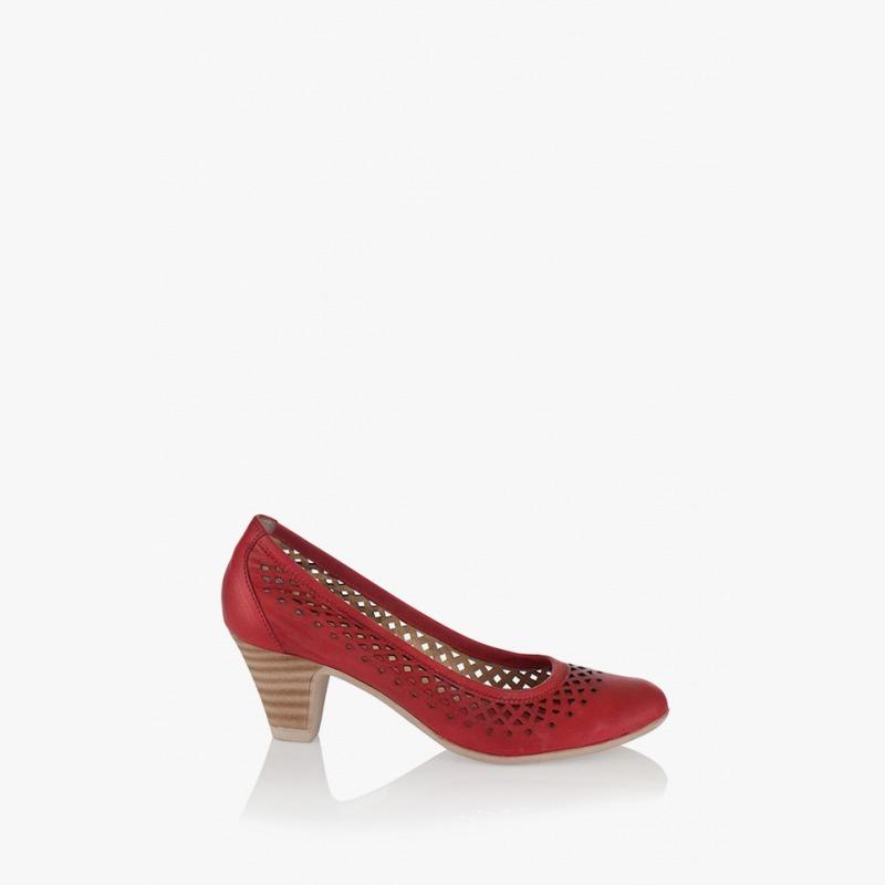 Дамски обувки Бриела в червен цвят