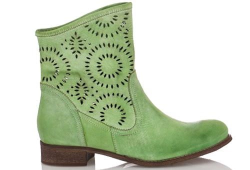 Летни боти в зелен цвят Ашли
