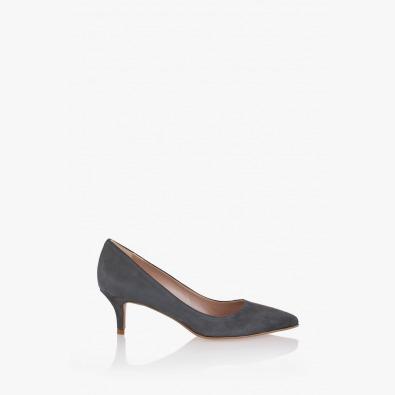 Елегантни дамски обувки Пати в сиво