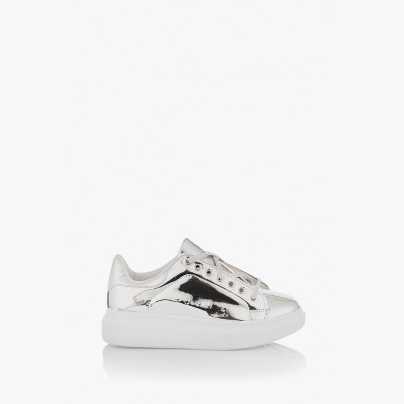 Дамски спортни обувки в сребристо Съншайн